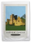 Ludlow Castle, Shropshire Tea Towel Novelty