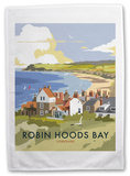 Robin Hoods Bay, Yorkshire Tea Towel Novelty
