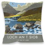 Loch An T Siob, Isle of Jura Cushion Throw Pillow
