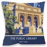 Public Library, New York Cushion - Throw Pillow