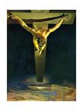 Le christ de St jean de la croix Lærredstryk på blindramme af Salvador Dali