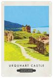 Urqhaurt Castle, Scotland Tin Sign