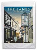 The Lanes, Brighton, East Sussex Tea Towel Novelty