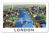 Londres Plaque en métal
