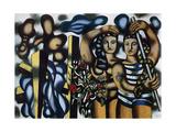 Adam et Eve, 1935 Lærredstryk på blindramme af Fernand Leger