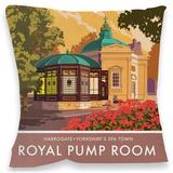 Royal Pump Room, Harrogate Cushion - Throw Pillow