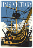HMS Victory Ship Tin Sign