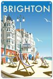 Brighton Beach, East Sussex Plaque en métal