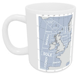 The Shipping Forecast Regions Map Mug Mug