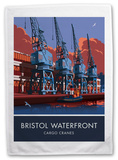 The Waterfront Cranes in Bristol Tea Towel Novelty
