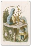 Alice in Wonderland - Alice Meets the Blue Caterpillar Blechschild