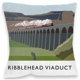 Ribblehead Viaduct, Yorkshire Cushion Throw Pillow