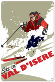 Val D'isere, France Tin Sign