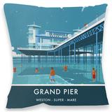 Grand Pier, Weston-Super-Mare Cushion Throw Pillow