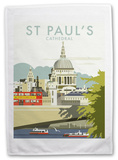 St Paul's Cathedral, London Tea Towel Novelty
