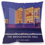 The Bridgewater Hall, Manchester Cushion - Throw Pillow