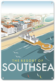 Resort of Southsea Tin Sign