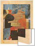 Okola, 20eme Wood Print by Kurt Schwitters