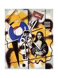 La joconde aux clefs, 1930 Lærredstryk på blindramme af Fernand Leger