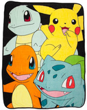 Pokemon Multi-Character Fleece Blanket Fleece Blanket