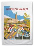 Norwich Market, Norfolk Tea Towel Novelty