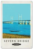 The Severn Bridge, Wales Tin Sign