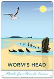 Worms Head Point, Rhosilli Tin Sign