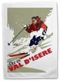 Val D'isere, France Tea Towel Originalt