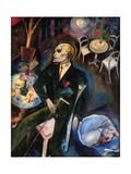 Le malade d'amour, 1916 Reproducción en lienzo de la lámina por George Grosz