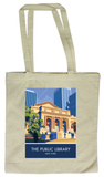 Public Library, New York Tote Bag Tragetasche