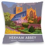 Hexham Abbey, Northumberland Cushion Throw Pillow