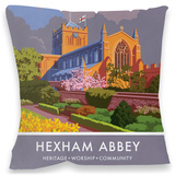 Hexham Abbey, Northumberland Cushion Throw Pillow