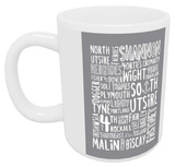 The Shipping Forecast Regions Typography - Grey Mug Mug