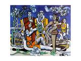 Les loisirs, 1948 Lærredstryk på blindramme af Fernand Leger