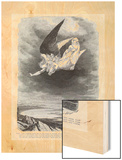 An Angel Flies in the Midst of Heaven Wood Print by L. Chapon