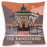 Brighton Bandstand Cushion Throw Pillow