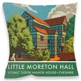 Little Moreton Hall Cushion Throw Pillow