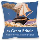 ss Great Britain Cushion - Throw Pillow