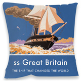 ss Great Britain Cushion Throw Pillow