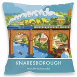 Knaresborough, Yorkshire Cushion Throw Pillow