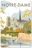 Notre Dame, Paris Tin Sign