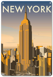 New York Skyline, USA Tin Sign