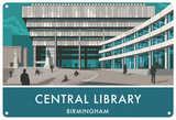 Central Library, Birmingham Tin Sign