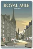 Royal Mile, Edinburgh, Scotland Tin Sign