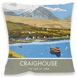 Craighouse, Isle of Jura Cushion Throw Pillow