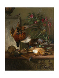 Still Life with Game and a Greek Stele: Allegory of Autumn Posters by Georgius Jacobus Johannes van Os
