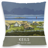 Keils, Isle of Jura Cushion Throw Pillow