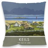 Keils, Isle of Jura Cushion Throw Pillow