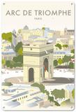 Arc De Triomphe, Paris Tin Sign