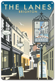 The Lanes, Brighton, East Sussex Tin Sign